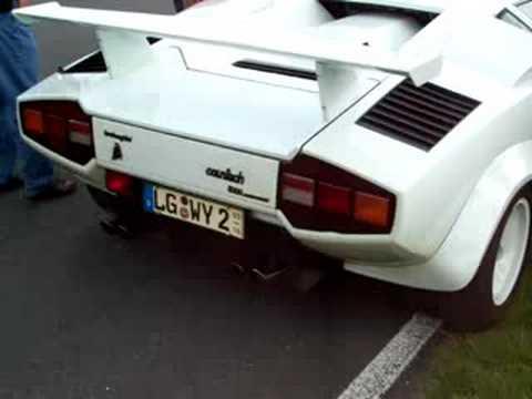 Lamborghini Countach Engine Sound Youtube