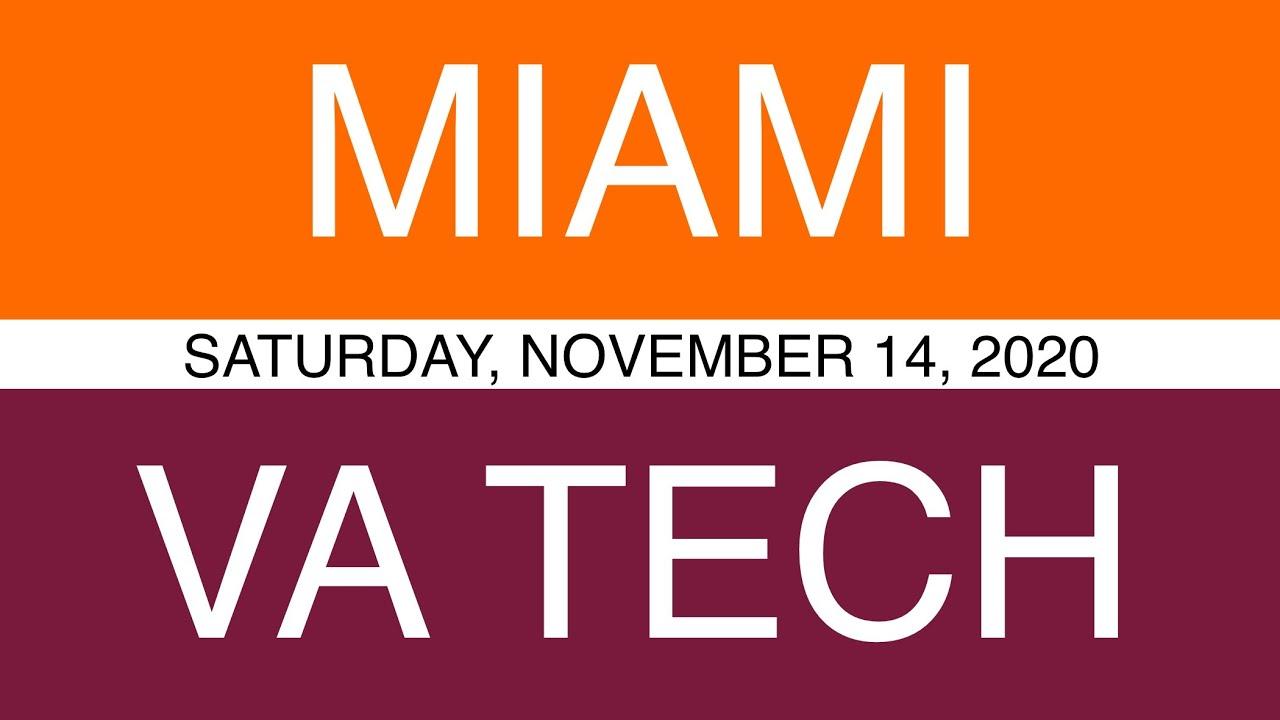 Miami Fl Vs Virginia Tech Prediction Sat November 14 2020 Ncaaf College Football Cfb Picks Youtube