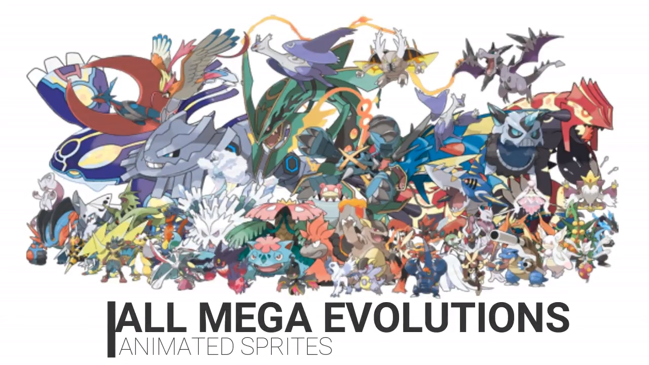 All mega evolutions animated sprites youtube - Pokemon tortank mega evolution ...