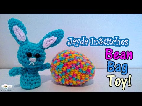 Crochet Bean Bag Tutorial : Easter Egg & Bean Bag Toy - Crochet Pattern Tutorial - YouTube