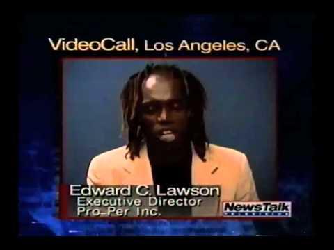 "Edward C. Lawson on ""News Media Talk"" Show in 1995 - BLACK vs. WHITE  - Part 1/8"