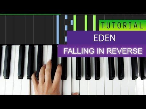Eden - Falling In Reverse - Piano Tutorial / Karaoke + MIDI