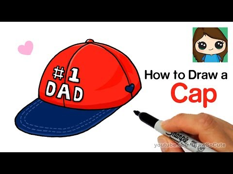 How to Draw a Cap for #1 DAD easy | Father's Day