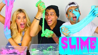 OUR VERY FIRST SLIME!! | CROESBROS Ft. REBECCA ZAMOLO