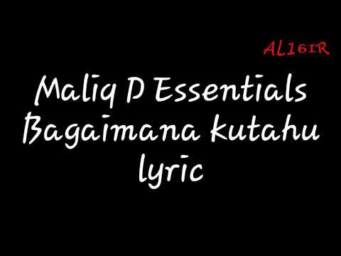 Maliq D Essentials-Bagaimana kutahu (lyric)
