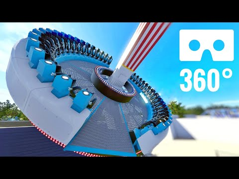 [VR Video 360°] Extreme 360 Roller Coaster Frisbee Ride POV Google Cardboard Virtual Reality
