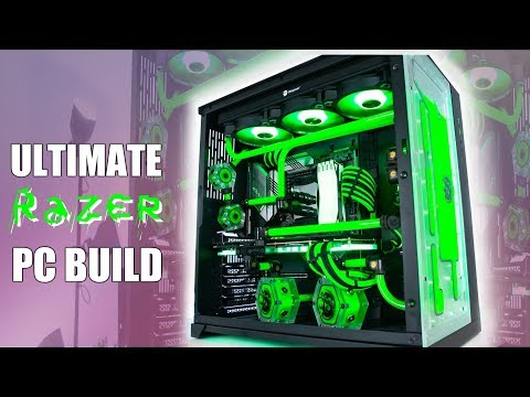Ultimate RAZER PC Build 3900x 2080 Ti - Water Cooled Gaming PC Time Lapse