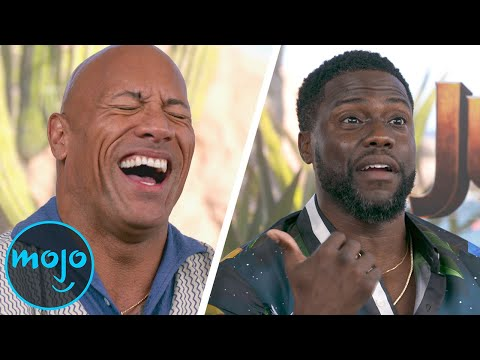 The Rock Gets ROASTED by Kevin Hart - Jumanji: The Next Level Cast Interview