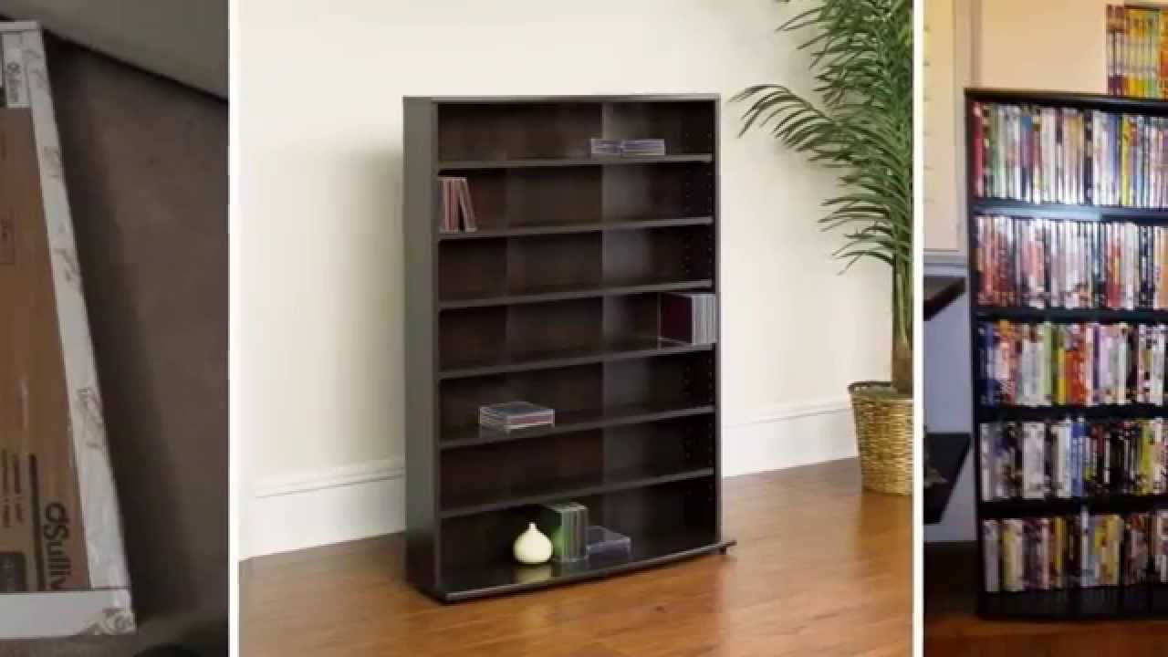 Review - Sauder Multimedia Storage Tower, Cinnamon Cherry - YouTube