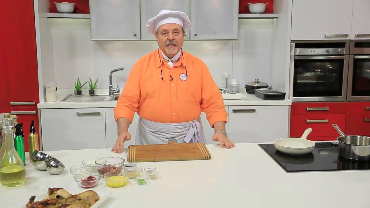 دجاج محشى فريك - كبد دجاج بالفراولة المكرملة : طبخة ونص حلقة كاملة