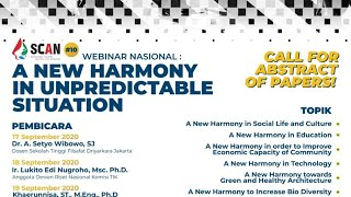 SCAN #10 Webinar Nasional: A New Harmony in Unpredictable Situation