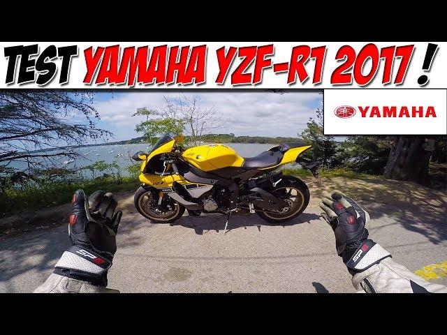 #Moto Vlog 88 : TEST YAMAHA YZF-R1 2017 /😈 LA MOTO DU DIABLE ! 😈