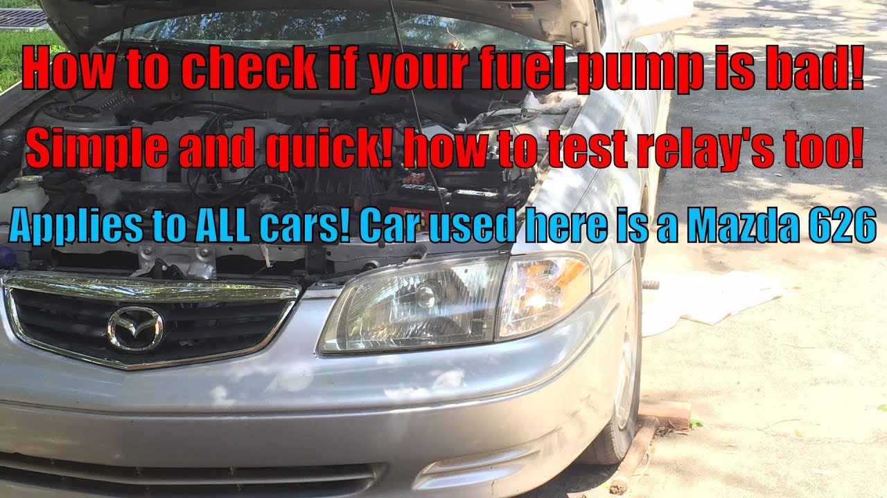 how to check if your fuel pump is bad no start condition on mazda 626 [ 1280 x 720 Pixel ]