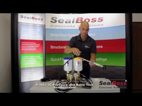 Sealboss P3003 2C Epoxy Pump Pressure and Ratio Test