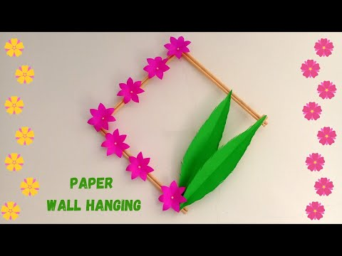 How to Make Paper Wall Hanging Very Easy And Simple | DIY Paper Flower Wall Decoration ideas