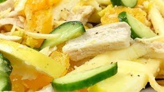 Салат с яблоком и мясом