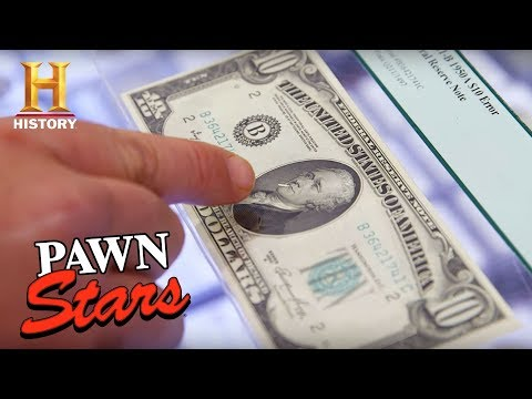 "Pawn Stars: ""The Smoking Hamilton"" $10 Bill (Season 15)   History"