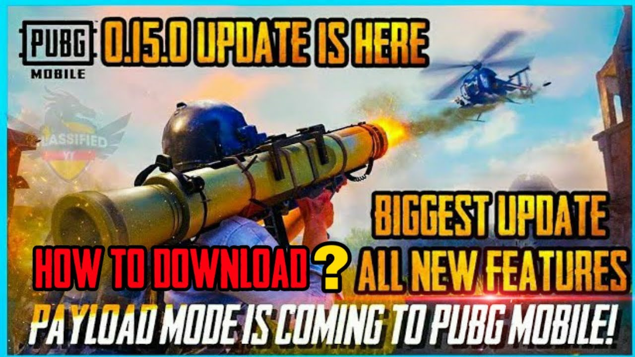 0.15.0 UPDATE IS HERE : HELICOPTER MODE AND MANY NEW FEATURES ( PUBG MOBILE )