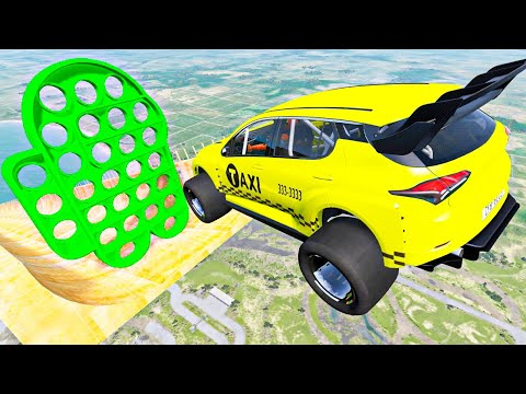 Download Satisfying Cars Crashes Compilation #88 Crazy Vehicles Jumping Over Pop-it Toy