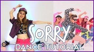 SORRY - Justin Bieber | Dance TUTORIAL - Aprende a bailar paso a paso(Aprende a bailar la coreografía oficial y completa de SORRY - Justin Bieber - Más info en http://www.abailarconmaga.com PROFESORA/BAILARINA: * Magalí ..., 2016-01-16T19:25:43.000Z)