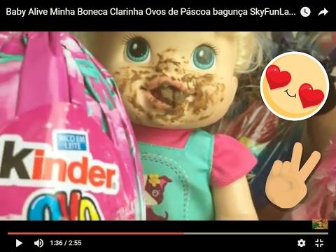 baby-alive-minha-boneca-clarinha-abrindo-caça-aos-ovos-de-páscoa-e-comendo-chocolate
