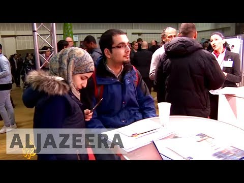 Refugees hope to find employment at Berlin job fair