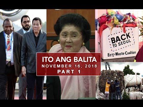 UNTV: Ito Ang Balita (November 16, 2018) PART 1