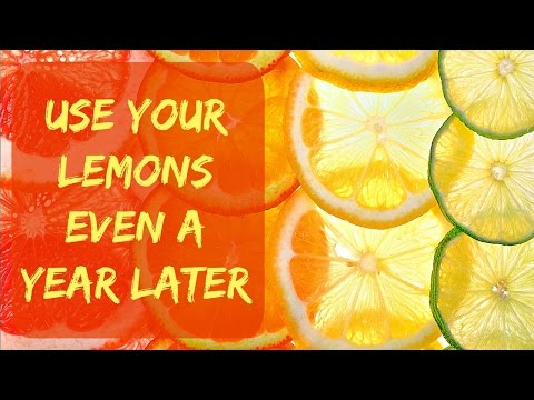 How to Store Lemons, Limes, Oranges & Grapefruit For Long Time In The Freezer