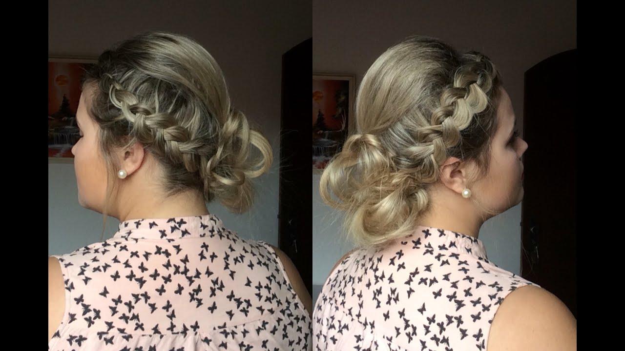 penteados presos com tranças