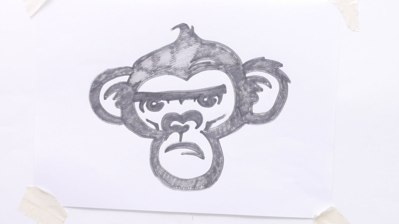 How To Draw Monkey Head Tribal Tattoo Youtube