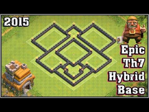 Epic Th7 Hybrid Base || For Saving Both Resource & Trophy ...
