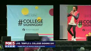 FOX 5 LIVE (5/2): Temple University college signing day with keynote Michelle Obama; Pompeo sworn in