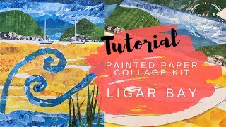 Made by Me | Painted Paper Collage | 'Ligar Bay' | Creative Kits for Adults