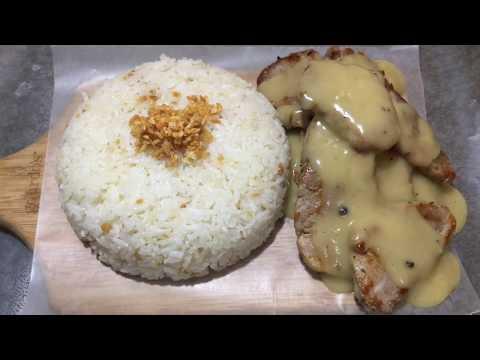 EASY Pork Tenderloin With Gravy And Garlic Rice