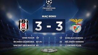 Beşiktaş   Benfica 3 3   Geniş Özet ve Goller Şampiyonlar Ligi 23 KASIM 2016