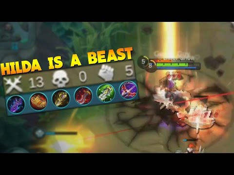 Mobile Legends Hilda Crit & Atk Spd Build Gameplay! (OP HERO