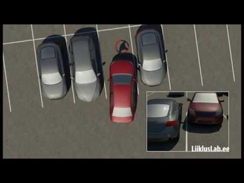 Как парковаться между двумя машинами передом