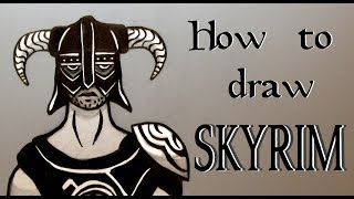 Ep. 141 How to draw a Skyrim Warrior ( An important lesson on drawing from references )
