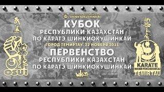 Кубок республики Казахстан по каратэ шинкиокушинкай. Темиртау.