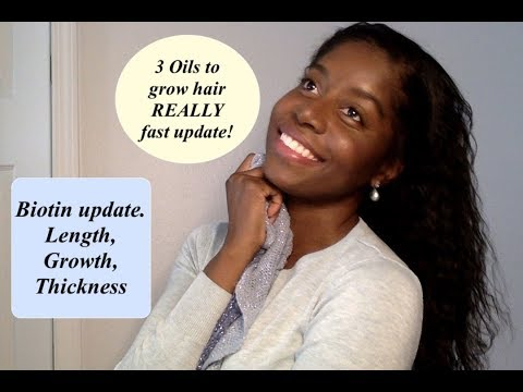 UPDATE: 3 Really Fast Hair Growth Oils and Biotin Update!