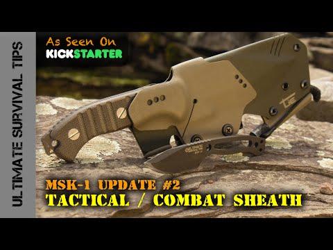 HARD-CORE MSK-1 Tactical / Combat Sheath + Mini Paracord Survival Neck Knife