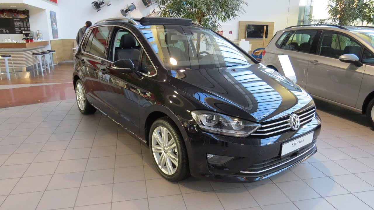2015 vw golf sportsvan highline 2 0 tdi youtube. Black Bedroom Furniture Sets. Home Design Ideas