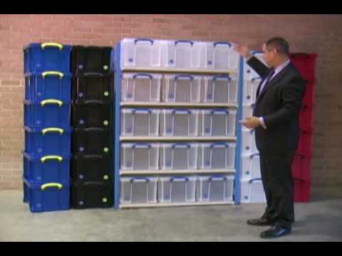 & 48 Litre Really Useful Boxes by EZR Shelving - YouTube