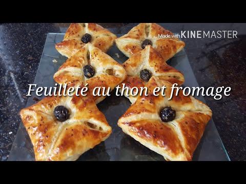 Feuilleté au thon et fromage- مملحات بالعجين المورق بالطون سهلة