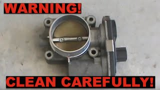 Be careful cleaning your throttle body! - Check Engine Light