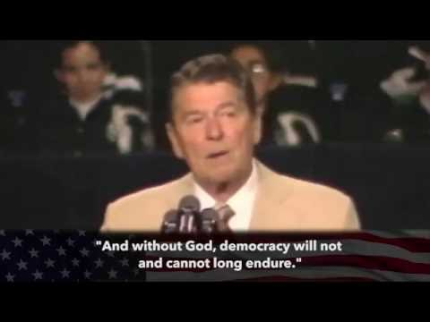 "Ronald Reagan - "" If we ever forget that we're one nation under God..."""