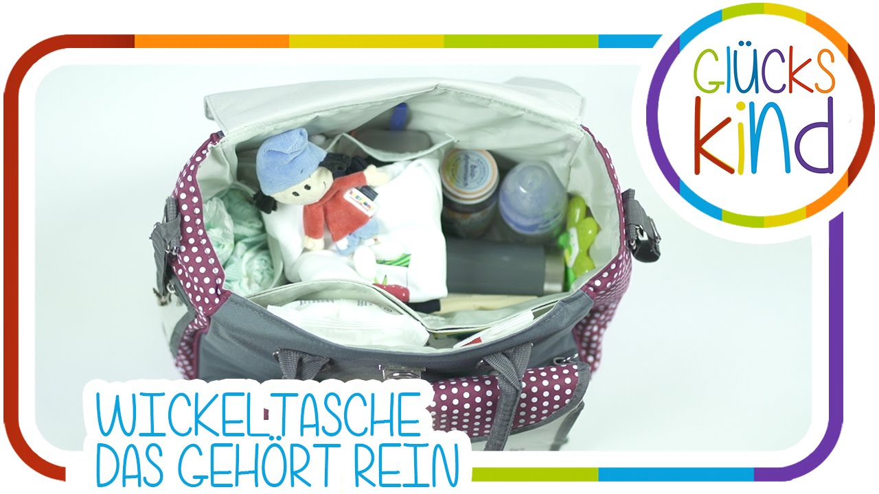 die wickeltaschen checkliste was geh rt in eine wickeltasche babyblog youtube. Black Bedroom Furniture Sets. Home Design Ideas