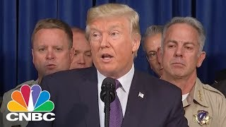 President Donald Trump Meets With Las Vegas Victims And First Responders   CNBC