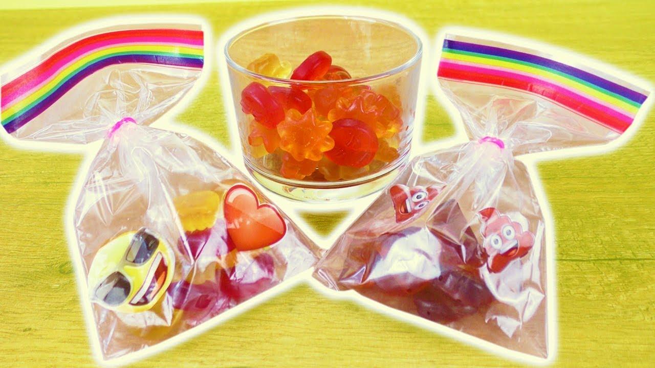 DIY Emoji Süßigkeiten Tüten selber machen   Süße Party & Geschenk ...