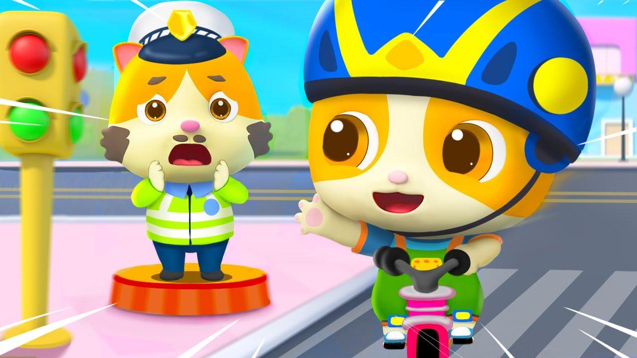 고양이티미가  꼬마 기사로 변신!    자전거 안전하게 타요   고양이가족   안전교육   동요모음   베이비버스 인기동요